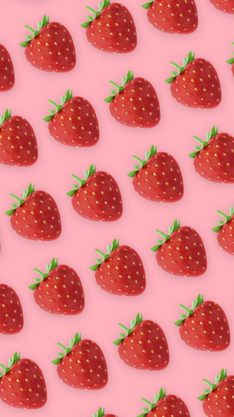 Strawberry Pink Aesthetic Wallpaper In 2020 Pink Aesthetic Aesthetic Wallpapers Wallpaper A strawberry is a relatively large red fruit grown on small strawberry plants. strawberry pink aesthetic wallpaper in