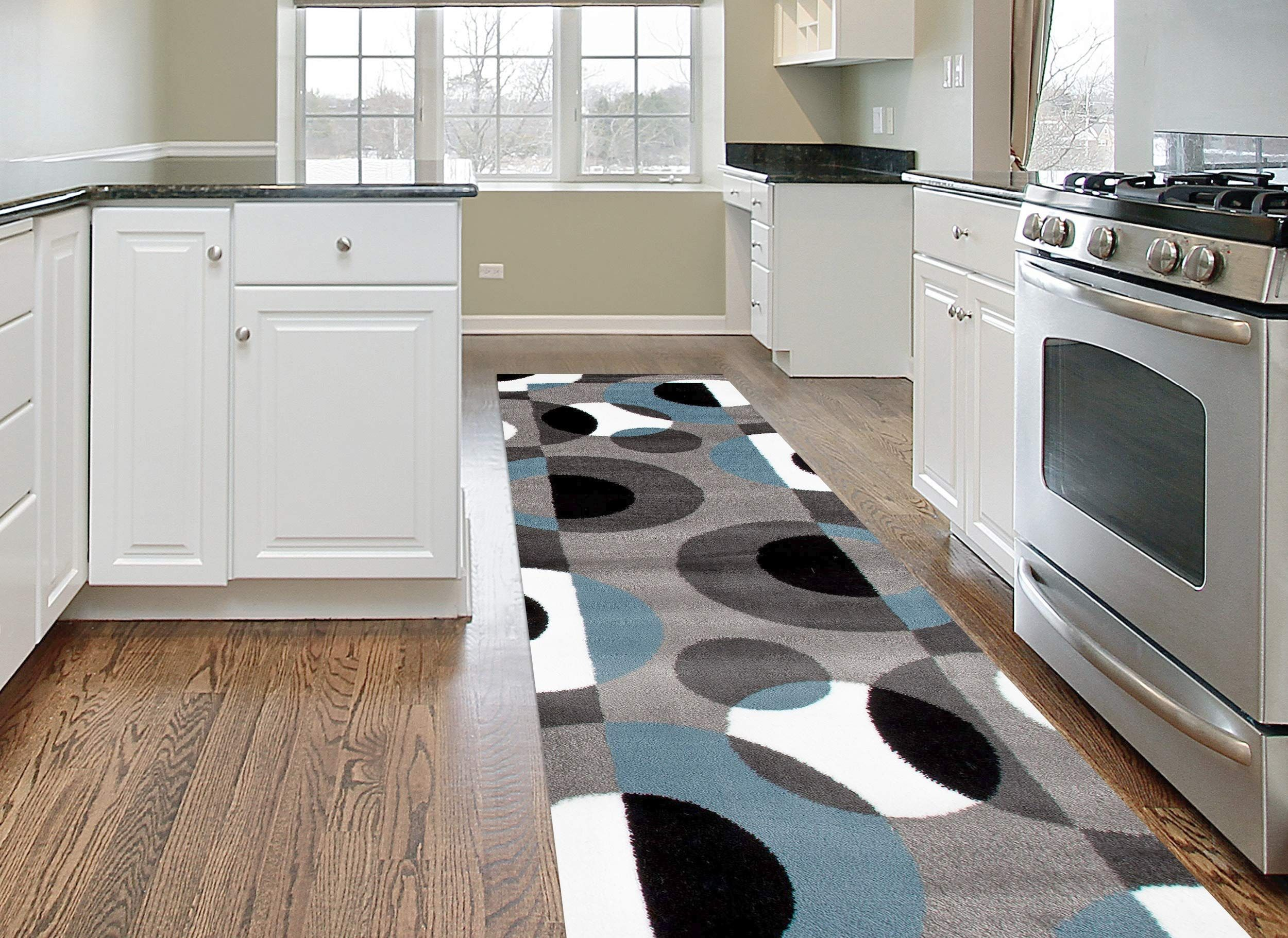 Rugshop Modern Circles Area Rug Runner You Can Find Out More Details At The Link Of The Image It Is An Affiliate Li In 2020 Area Rugs Contemporary Yellow Area Rugs