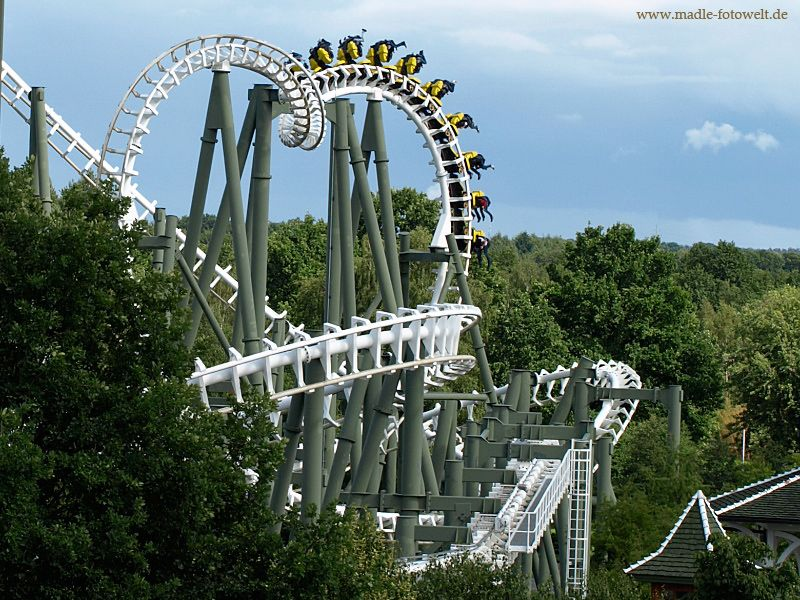 The Heide Park Resort Is A Theme Park In Soltau Heide Park Achterbahn Park