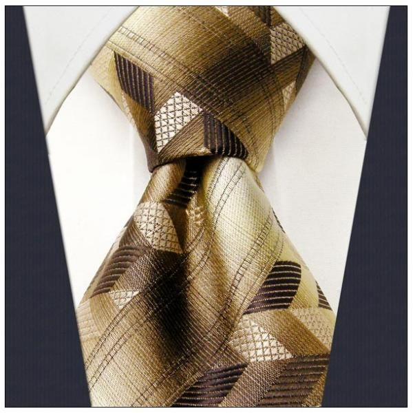 Brown Geometric Necktie