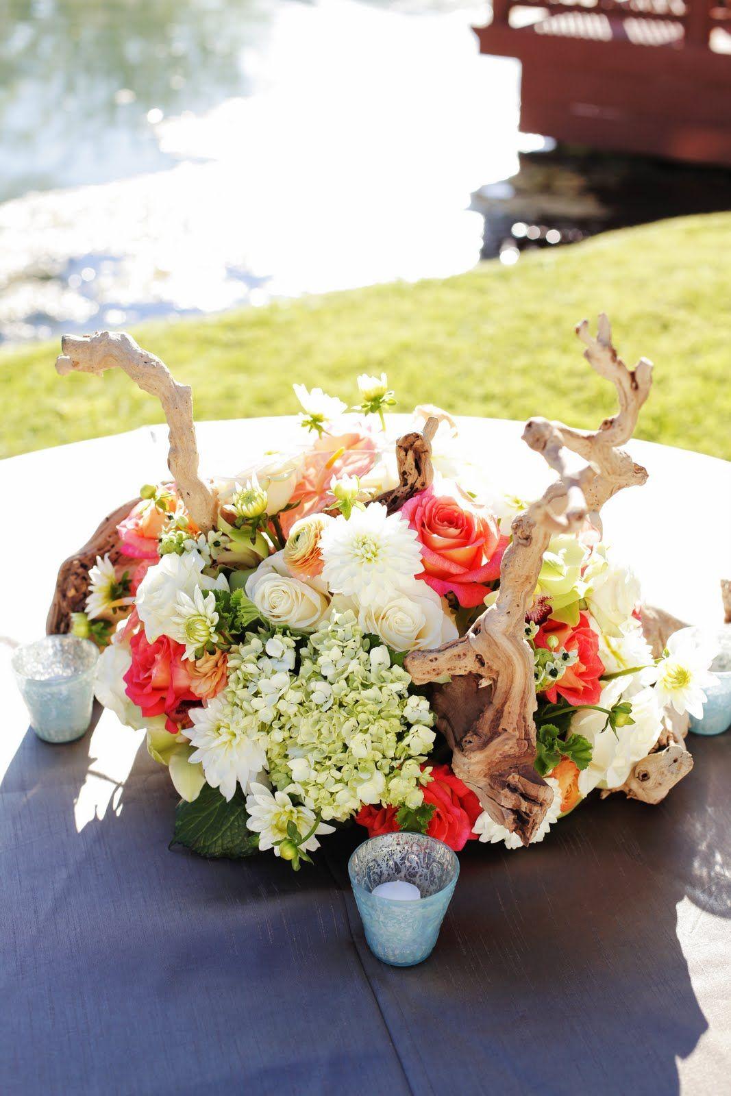 bloomers flowers & decor Beach wedding centerpieces