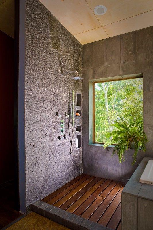 Bathroom Rammed Earth House Arizona Window In Shower