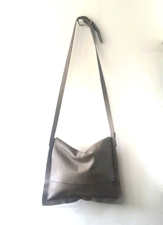 097fc56cc799 SALE Gray messenger bag cross-body leather Bag by Smadars on Etsy ...