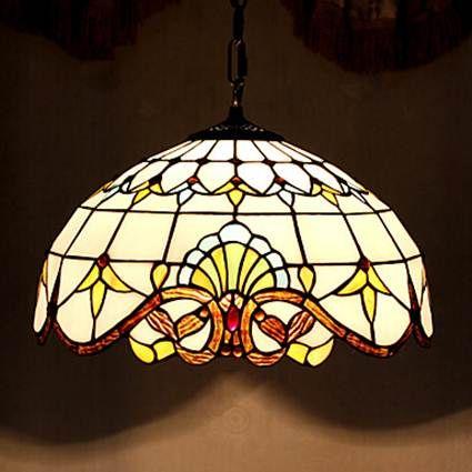 Lightinthebox baroque tiffany pendant light with 2 lights