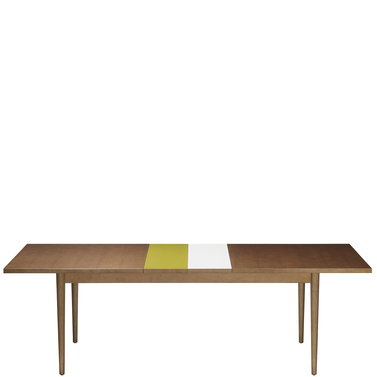 Retro Extending Dining Table Orla Kiely Stained Walnut Solid And Veneered Extending Dining