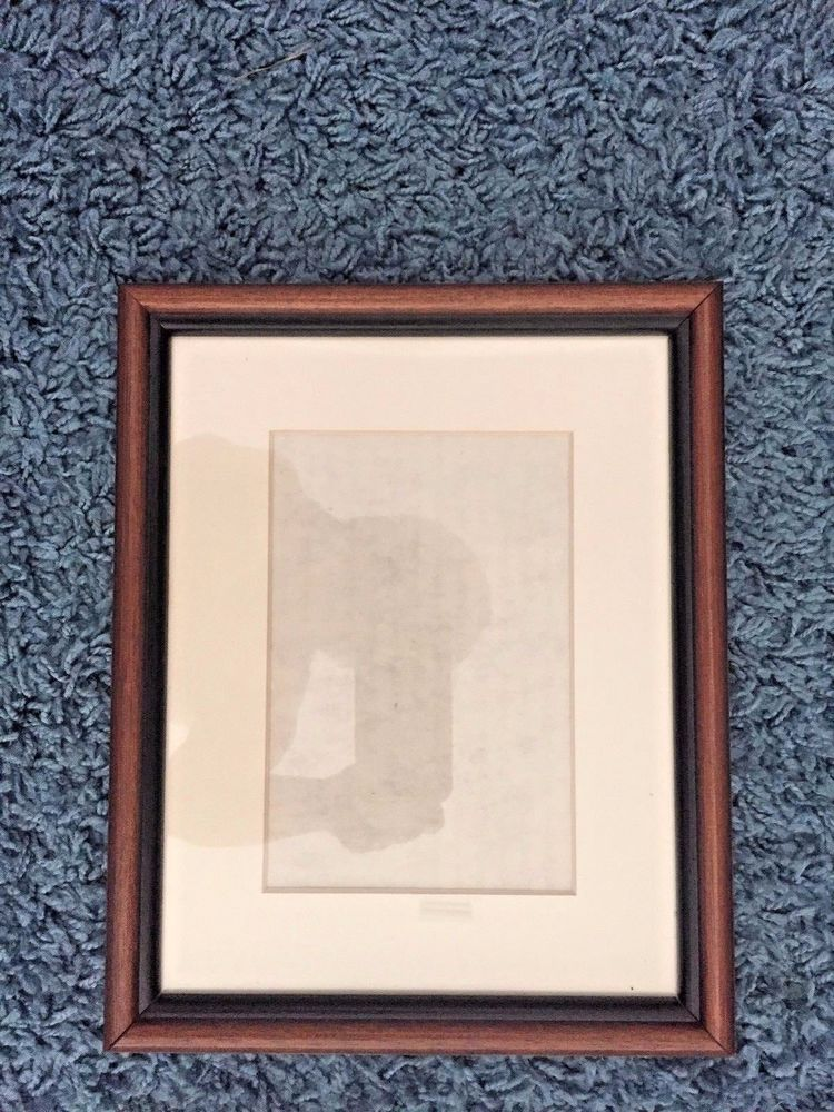 Picture Frame Walnut Wood with Mat 8.5x10.5 Fits picture 6.5x4 ...