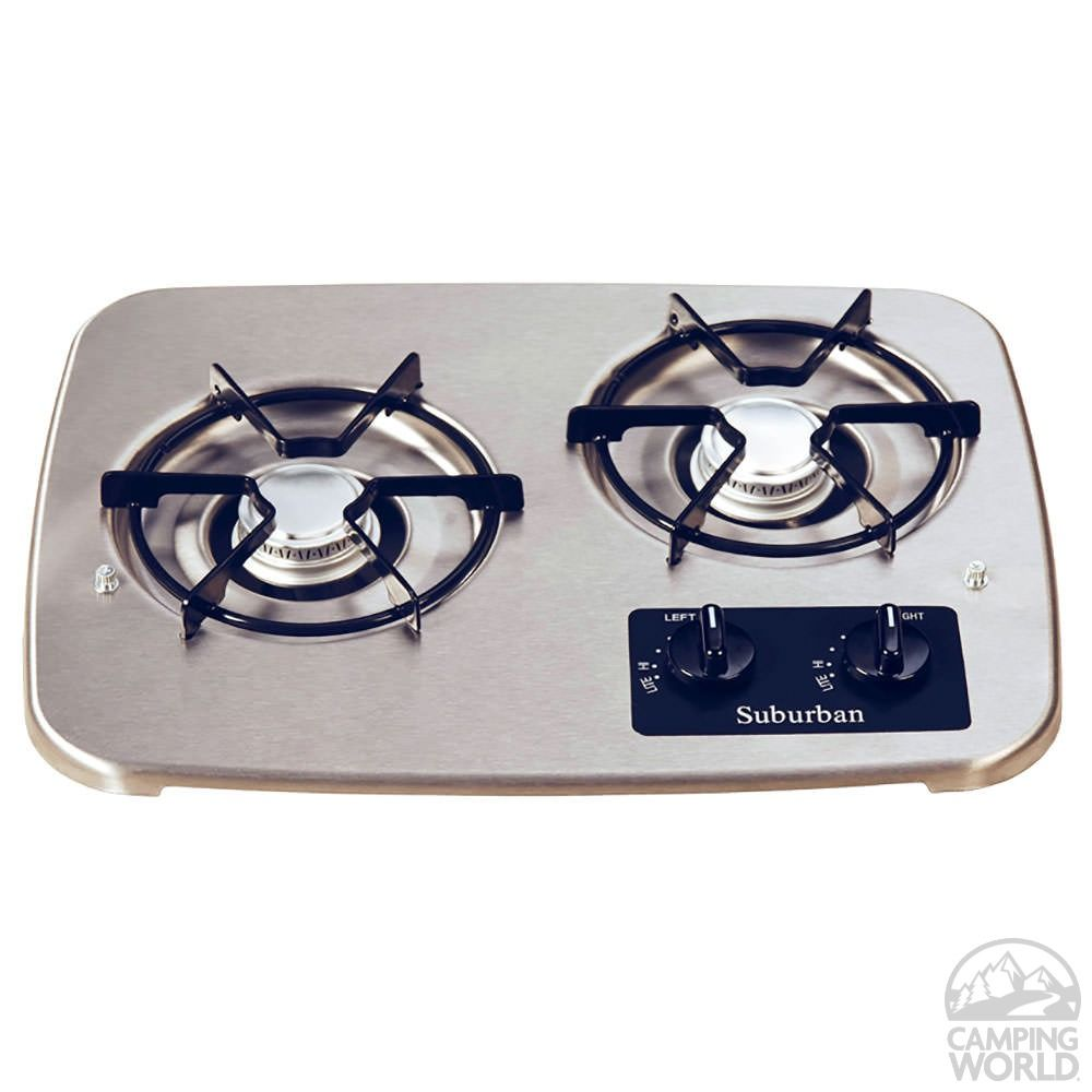 2 Burner Drop In Cooktop Stainless Top Cooktop Stove Propane Stove