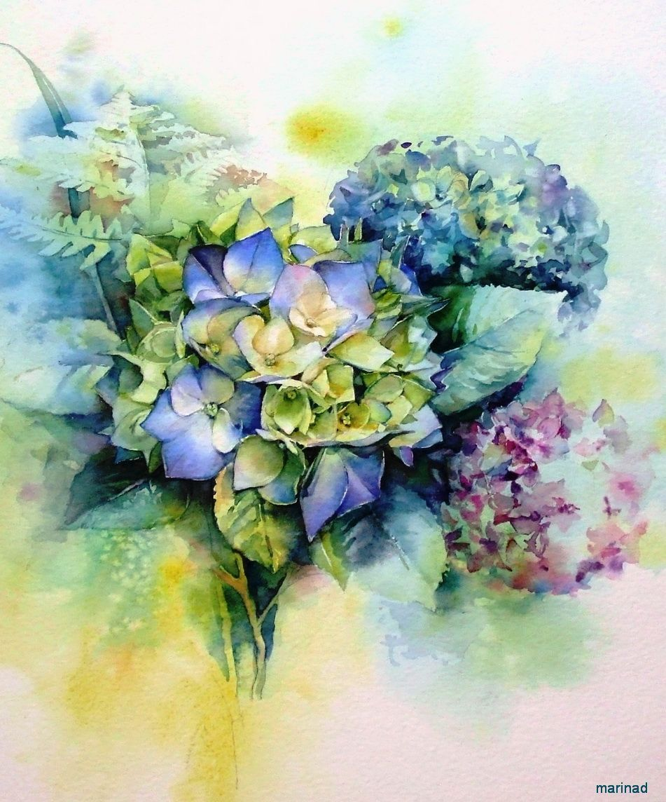 Pin By Nicolene Ravenscroft On Watercolour Beauty Floral