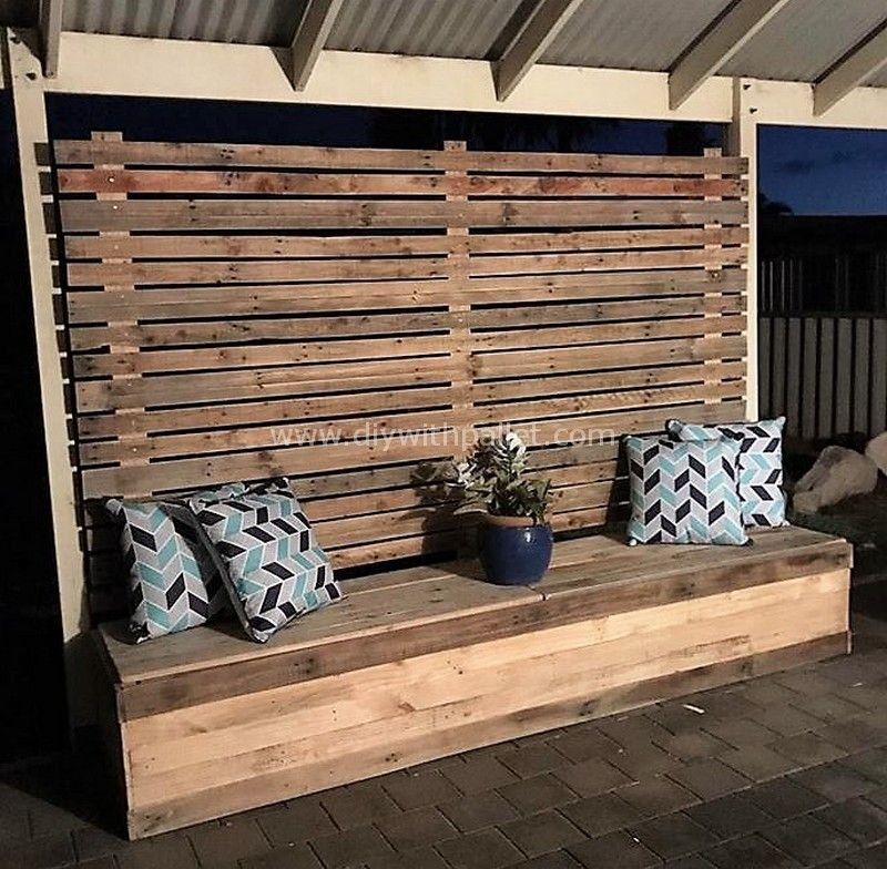 Easy DIY Ideas with Used Wood Pallets #woodpalletfurniture