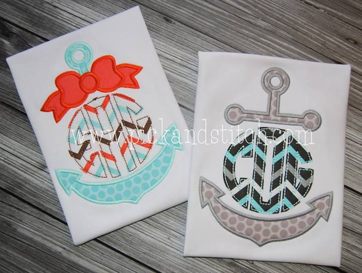 Monogram Anchors