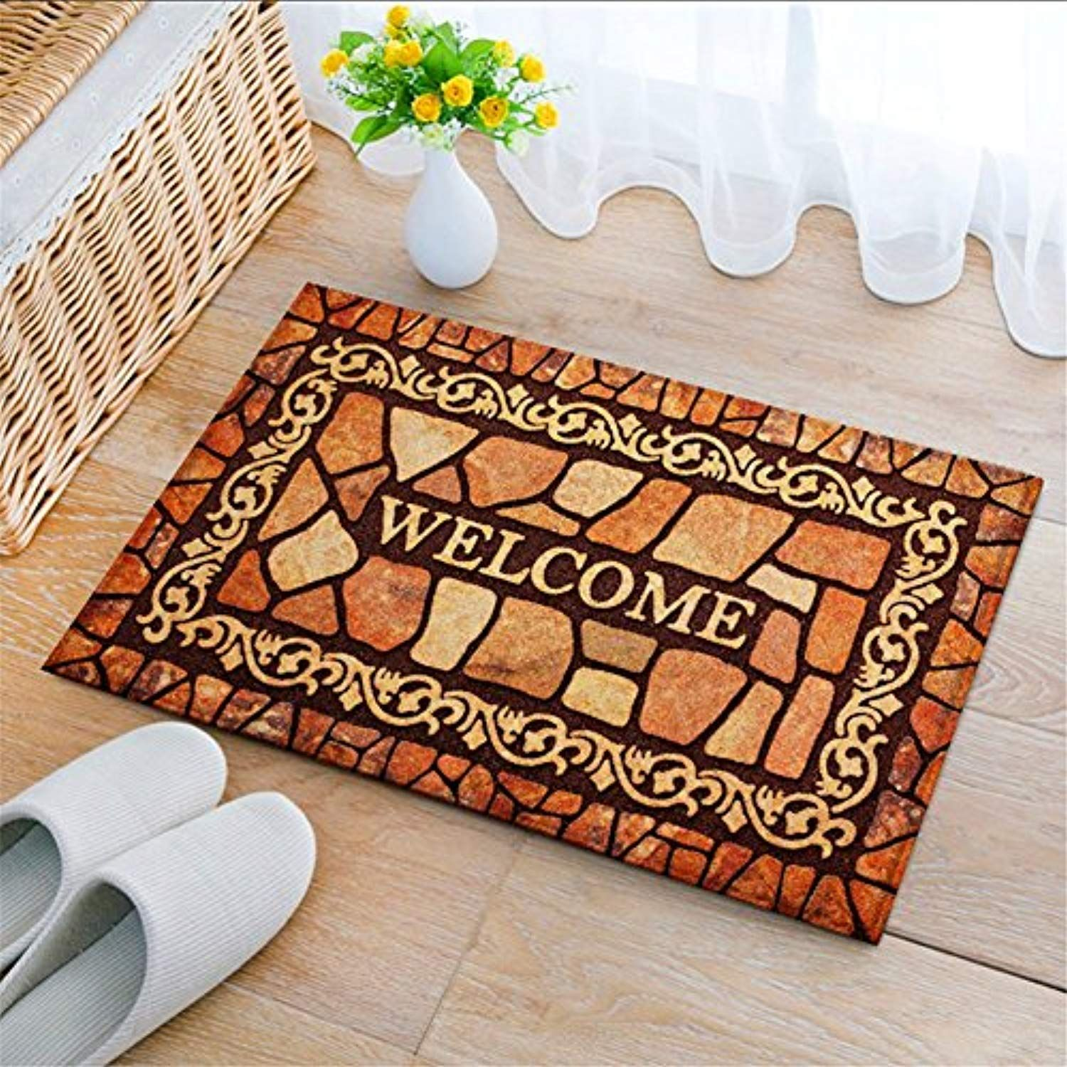 Gentil Eanpet Front Door Mat Funny Doormat Welcome Mats 2x3 Thin Outdoor Indoor  Entrance Doormat Rubber Non Slip Rug Outside Waterproof Shoes Scraper Area  Rug For ...