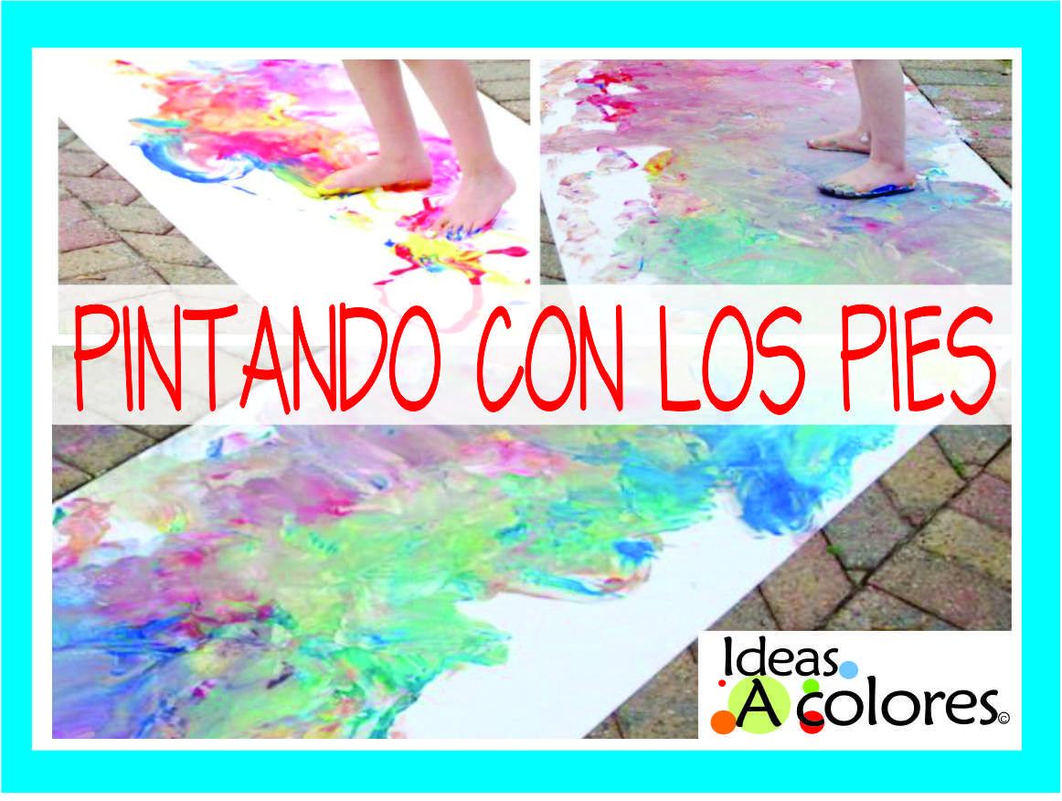 PINTANDO CON LOS PIES-PROYECTO EN MOVIMIENTO Arte para niños