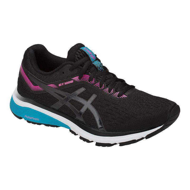 ASICS Women's GT 1000 7 Running Shoes - Black/Pink | Black ...