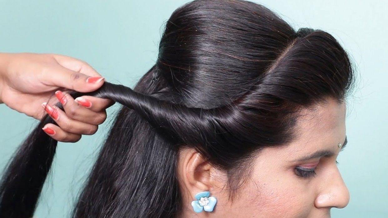 Girl Ke Liye Hairstyle in 2020 | Wedding party hairstyles, Different hairstyles, Hair puff