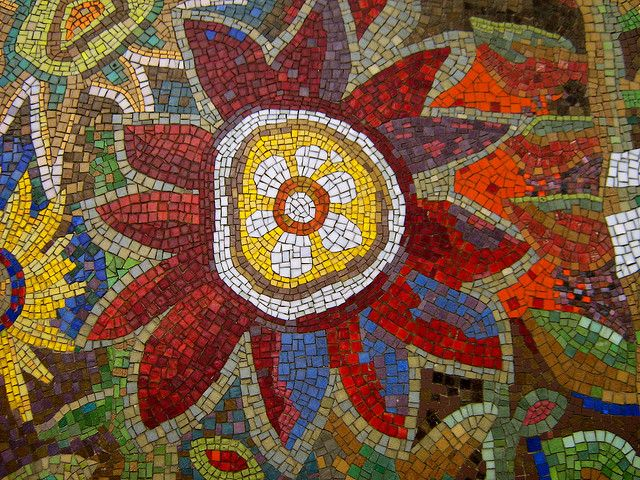 Leeds Mosaic Flower Two Flickr Photo Sharing Mosaic Art