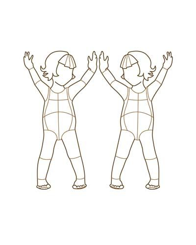 fashion designer drawing template -