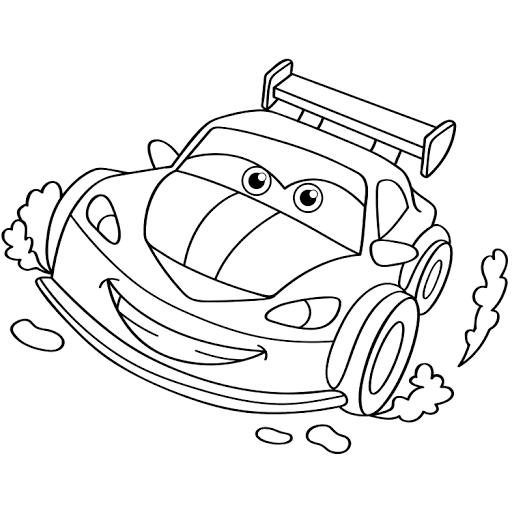 Mewarnai Gambar Mobil Balap Nascar Gambar Warna Mobil Balap