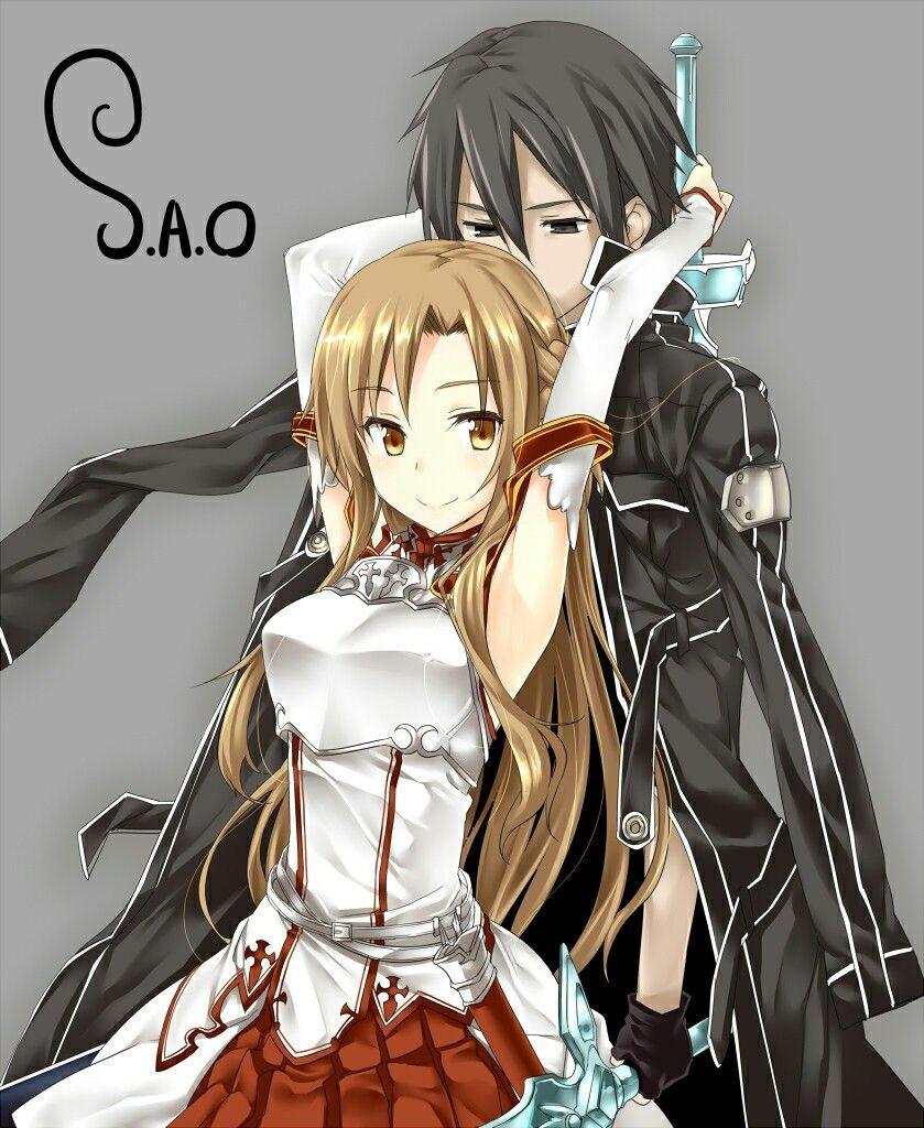 SAO Kirito x Asuna Sword art online, Dễ thương, Anime