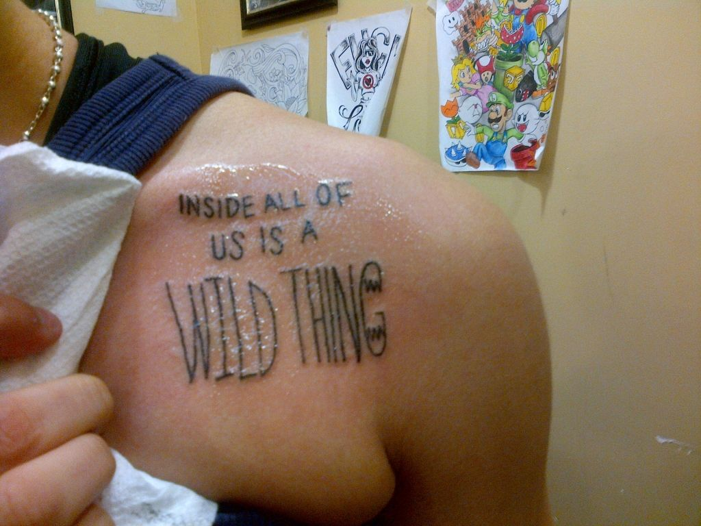 Where The Wild Things Are Tattoo Love The Placement Tattoo