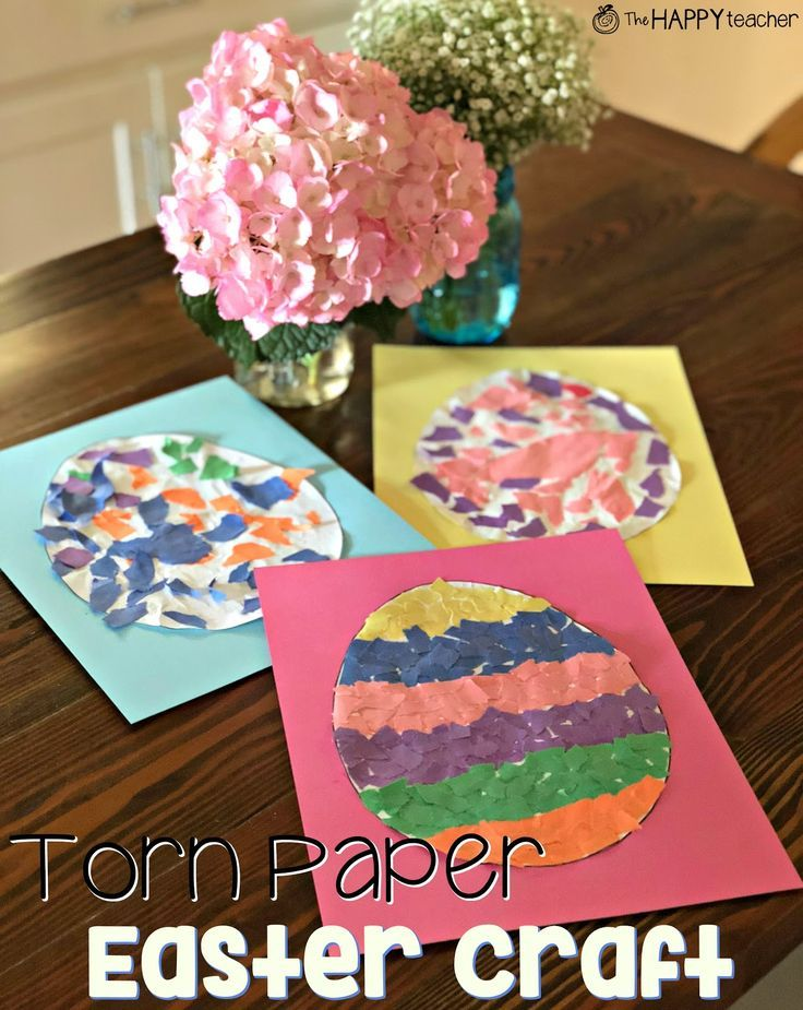 torn paper easter craft cute and easy preschool and kindergarten