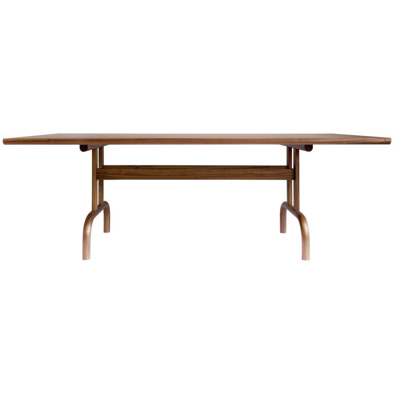 Feast Dining Table Solid Wood And Brass From A Unique