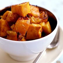 Candied Sweet Potato with Pineapple: Four ingredients equal one simple side dish. The pineapple juice helps caramelize the potatoes, resulting in wonderful flavor and texture.