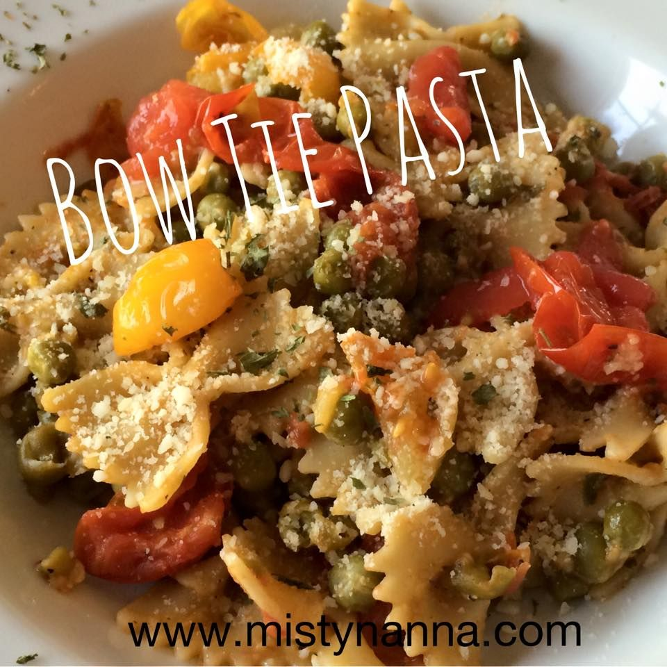 Fit for Life: Veggie Bow Tie Pasta Meal!
