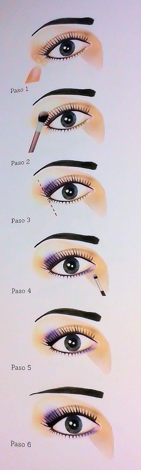 Cómo maquillar unos ojos caídos o tristes paso a paso | Pinterest ...