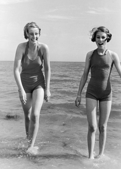 83ce17a49ea85 ... 1935: Swimsuit styles has come and go, but these women show looking hot  in swimwear is totally timeless. Take in these 80 vintage babes in bathing  suits ...