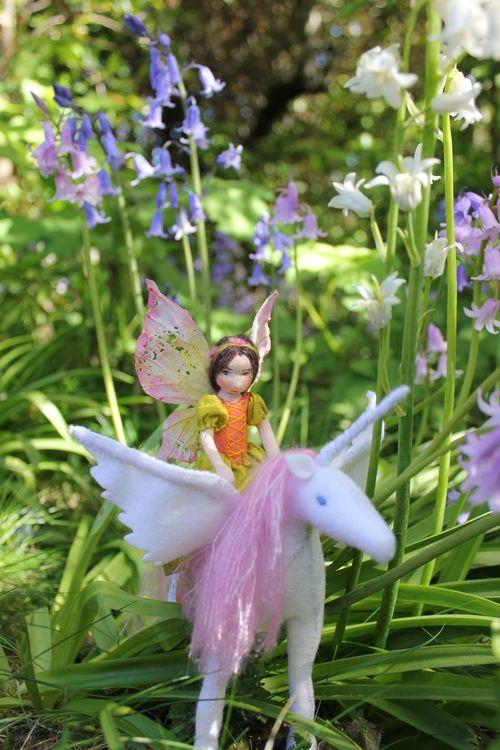 Unicorn - Lavender & Lark ~ waldorf fairy