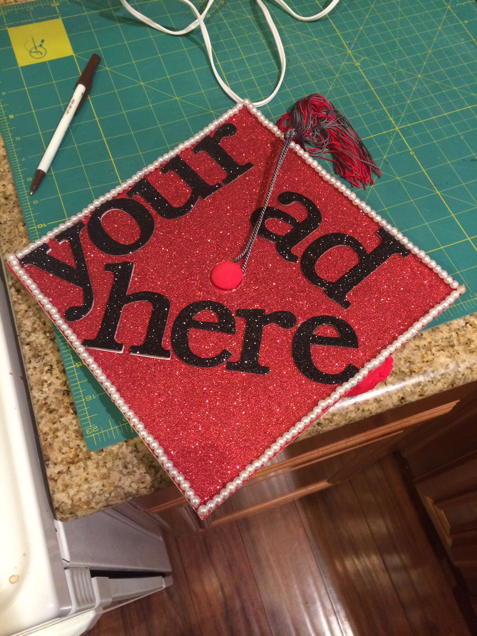Decorated my graduation cap Im an advertising major and I