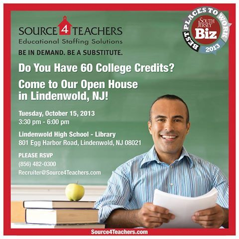 LINDENWOLD! Come join us for a #Source4Teachers at Lindenwold High School Library on 10/15! RSVP now to attend!