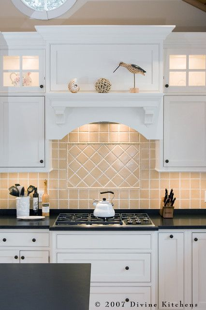Designing Traditional Kitchen Using Sink Wood Hood