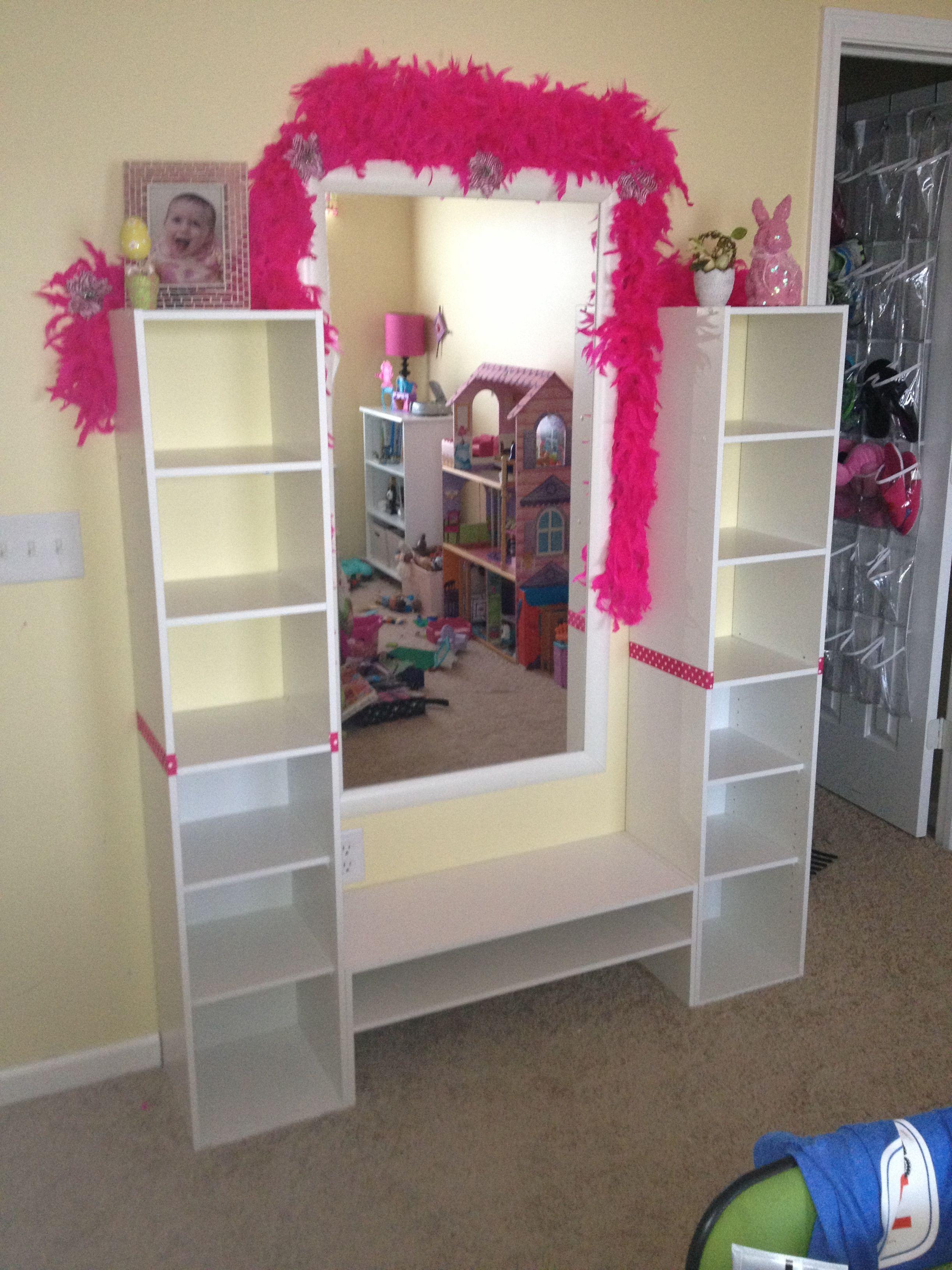 Good Enough Diy Memo Wall Boards And Mirror Wall Mirror Wall Diy Beauty Storage Padded Wall
