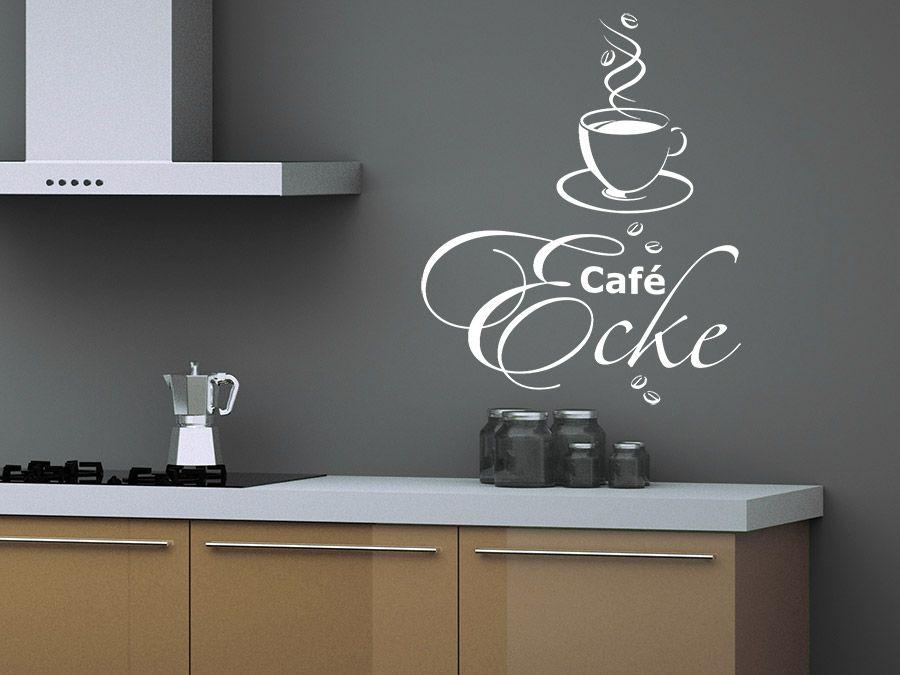 Wandtattoos küche kaffee  Café Ecke mit Kaffeetasse | Kaffee-ecke, Wandtattoo und Kaffeetassen