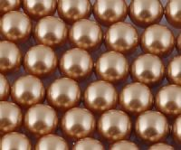 4mm SWAROVSKI® ELEMENTS Bright Gold Crystal Pearl Beads - 50 pearls for jewellery making, beadwork and craft