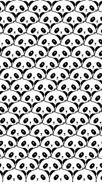 Wallpaper For Your Phone, Cool Wallpaper, Panda Wallpaper Iphone, White Wallpaper, Kawaii