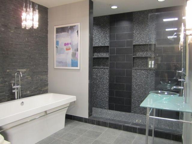 Beautiful Mosaique Salle De Bain Gris Ideas - Amazing House Design ...