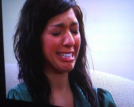 Bahaha Farrah's ugly cry face. Always makes me feel slightly better about  myself.