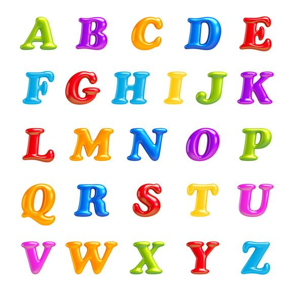 3d Font Creative Abc Collection Isolated Alphabet Type Letters