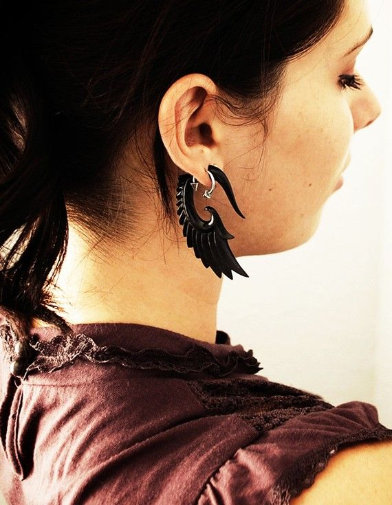 """2"""" carved earrings - I love these"""