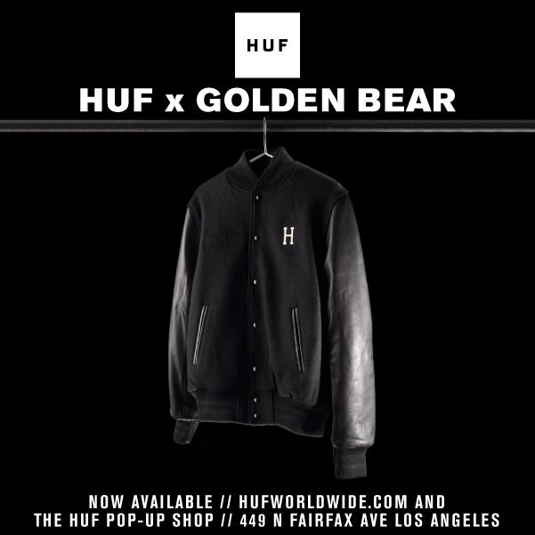 HUF x GOLDEN BEAR DELUXE VARSITY JACKET // NOW AVAILABLE