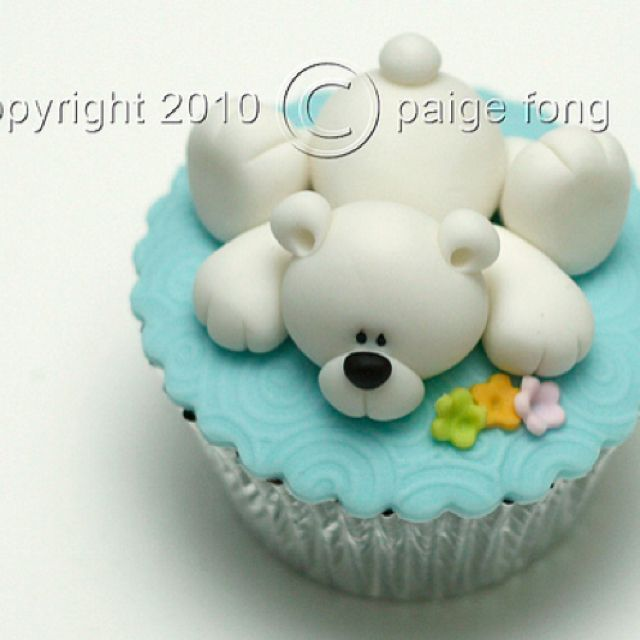 Lovely Teddy Bear Cupcake Cupcake Cakes Bear Cupcakes