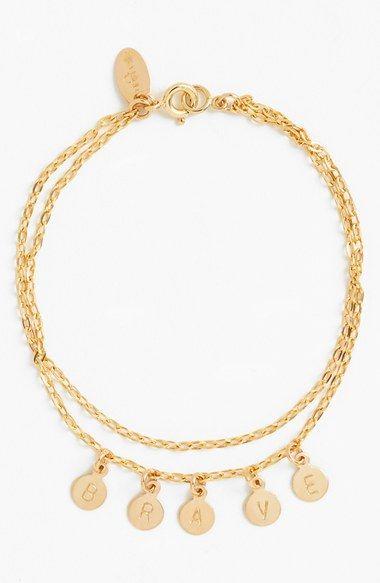 84e716348f261 Nashelle 'Brave' 14k-Gold Fill Charm Bracelet available at ...