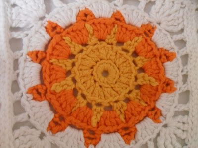 Haakpatroon Granny Square Zon Instruction Pinterest Crochet