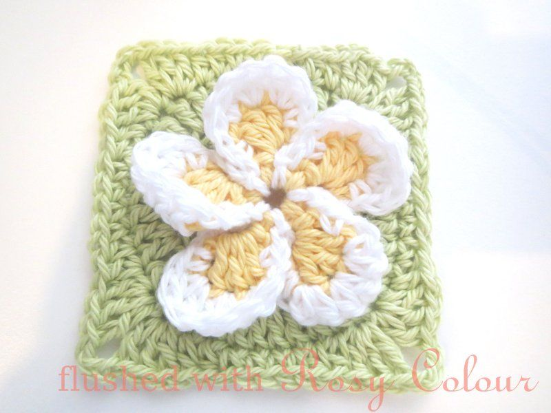 Flushed with Rosy Colour: Frangipani Square, free pattern | Granny ...