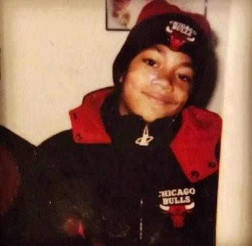 Derrick Rose as a little boy. Born and raised in Chicago and plays for the team he has loved all his life. Vision!!!!!