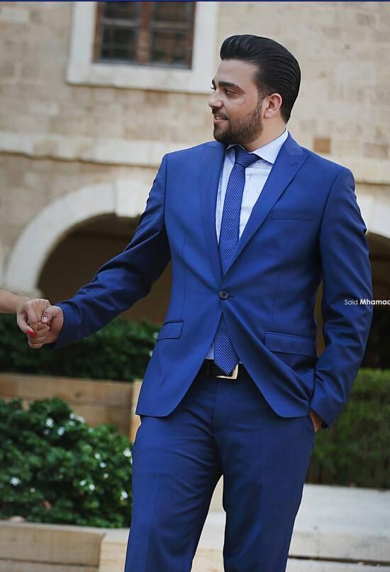 New Arrival Royal Blue Cheap Man Suit Groom Tuxedos Suits ...