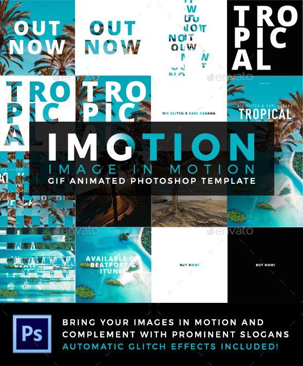 Imotion Gif Animated Photoshop Template Psd Photo Templates