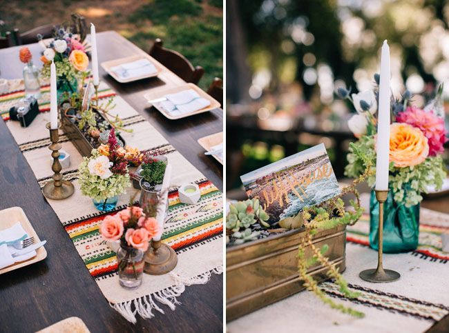 Colorful Bohemian Ranch Wedding Danielle Adam Vintage Mexican